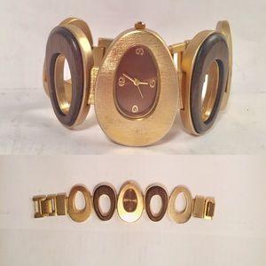 Modern mid-century style watch